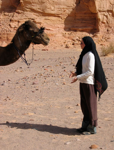 Alexis York Lumbard with a camel