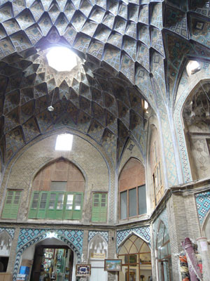 A dome restoration project worked on by Alireza Sadeghian