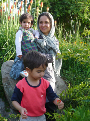 photo of Alireza Sadeghian's family