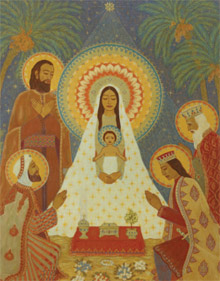 Catherine Schuon's painting titled The Adoration of the Magi