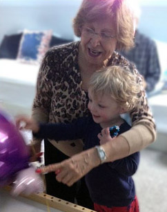 photo of Mahvash Shahegh with her grandson James