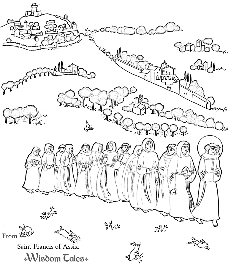 Saint Francis Of Assisi Isbn 978 1 937786 04 5 By Demi On St Francis Of Assisi Coloring Page