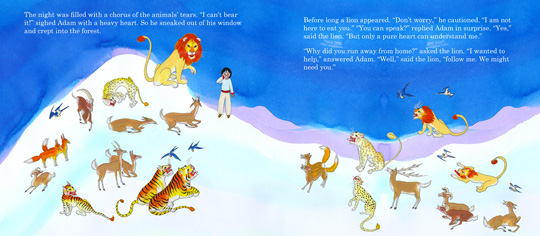 "Pages from the book ""When the Animals Saved Earth"", by Demi"