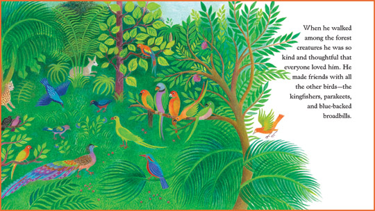 "A sample spread from the book ""Little Lek Longtail Learns to Sleep"", written and illustrated by Isabelle Brent"
