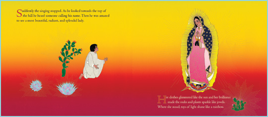 "a page from the book ""Gifts of Our Lady of Guadalupe: Patroness of Latin America""
