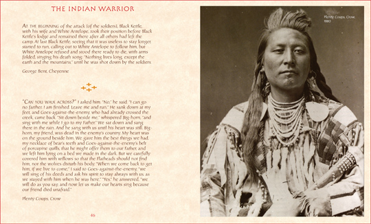 "sample spread from the book ""Spirit of the Indian Warrior"", by Michael Fitzgerald and Joseph Fitzgerald"