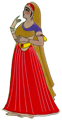 illustration of a woman in a sari
